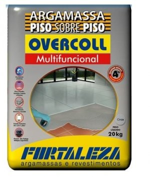 Argamassa Fortaleza overcoll cinza
