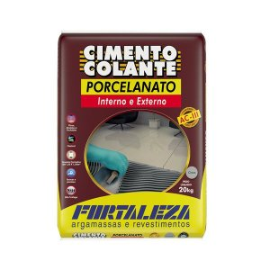Argamassa Fortaleza porcelanato cinza interno-externo