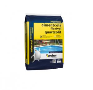 Argamassa Quartzolit flexível AC3 cinza