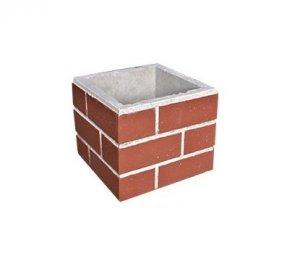 Aumento churrasqueira - Imita tijolinho vermelho 25x30